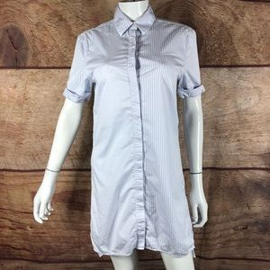 Equipment tunic top button up pinstripe (a3) B